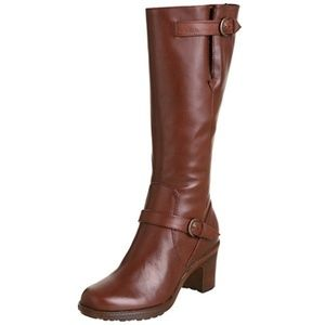 EUC Dansko Nevada Tall Heeled Brown Leather Boots